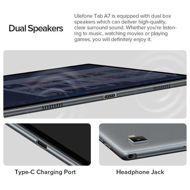 Ulefone Tab A7 Android 11 7680mAh Tablet PC 10.1 ''4G Network 4GB + 64GB Octa Core WIFI 1200*1920 Tablets 13MP Rear Camera 6