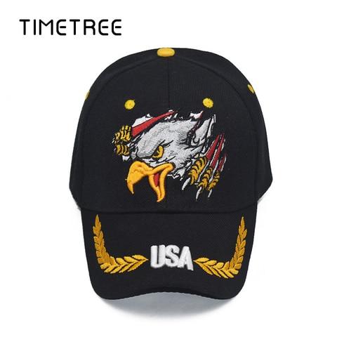 Vintage Eagle Head Embroidery Patriot Baseball Mesh Caps&Hat Outdoor Snapback Hats Adjustable Camping Baseball Caps gorras homme Multan