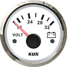 1 шт., тюнинговый инструмент, вольтметр 52 мм, вольтметр 18-32 В, измерители напряжения, вольт, измерительные приборы для автомобилей, домов, грузовиков