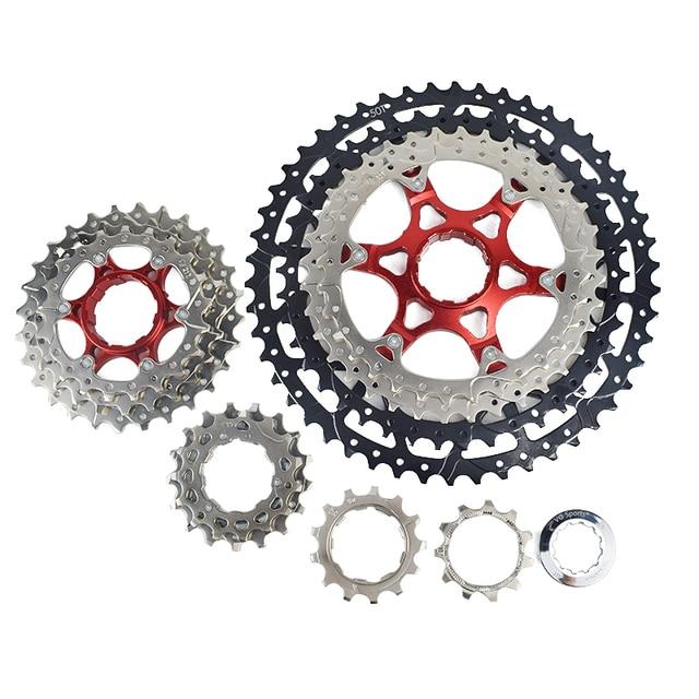 MTB kaset 10 11 12 hız 11 40T 42T 46T 50T dağ bisikleti Freewheel bisiklet dişlisi shimano SRAM için SUNRACE bisiklet parçaları