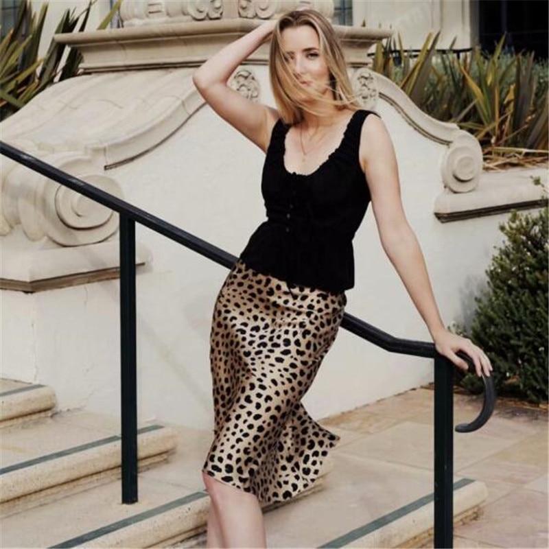 Summer kawaii boho leopard print high waist skirts womens  skirt punk streetwear korean style