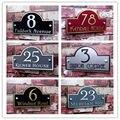 Индивидуальный Современный наружный матовый табличка 250x150 мм акриловый дверной номер адрес домашний знак