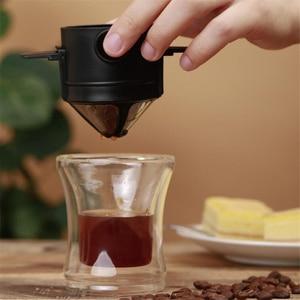 Image 4 - Youpin LAVIDA électrique en acier inoxydable café 427ML broyeur Double couche filtre Mini cuisine moulin café grain mouture café