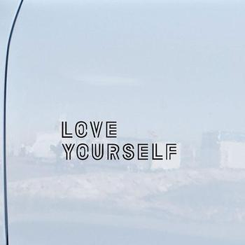 14X6cm Love Yourself Car Truck Vehicle Body Window Reflective Decals Sticker Decoration 1