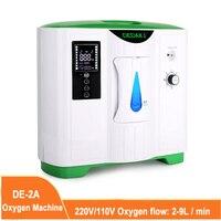 Concentrador de oxígeno portátil 2L-9L, generador de oxígeno de bajo nivel de operación, máquina Oxygene para el cuidado del hogar, 220V/110V