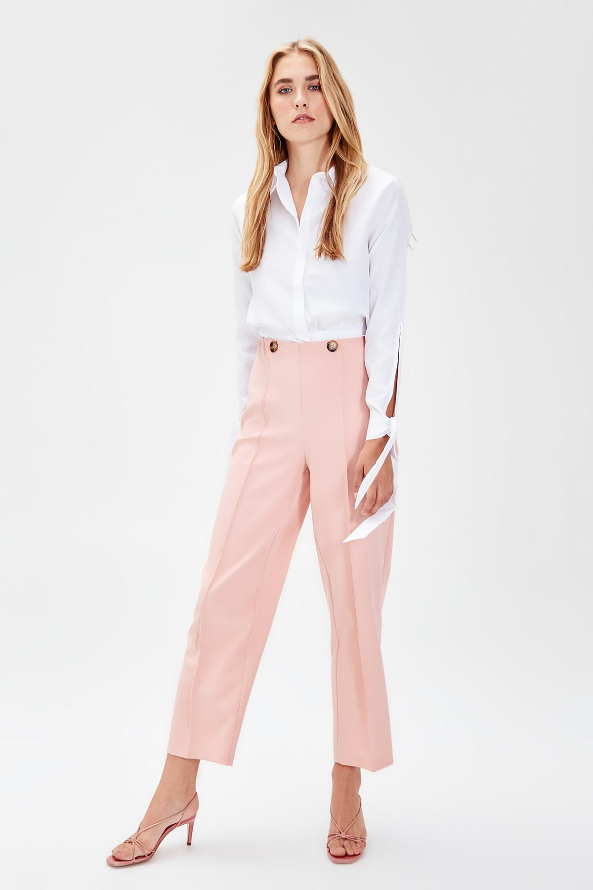 Trendyol Powder Pleated Flare Pants TOFAW19BB0344