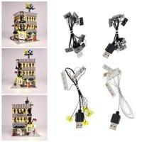 LED Light Kit For LEGO 10211 Grand Emporium DIY Luminous Assembled Building Blocks Light Kit Toy ABS Building Block Supplies