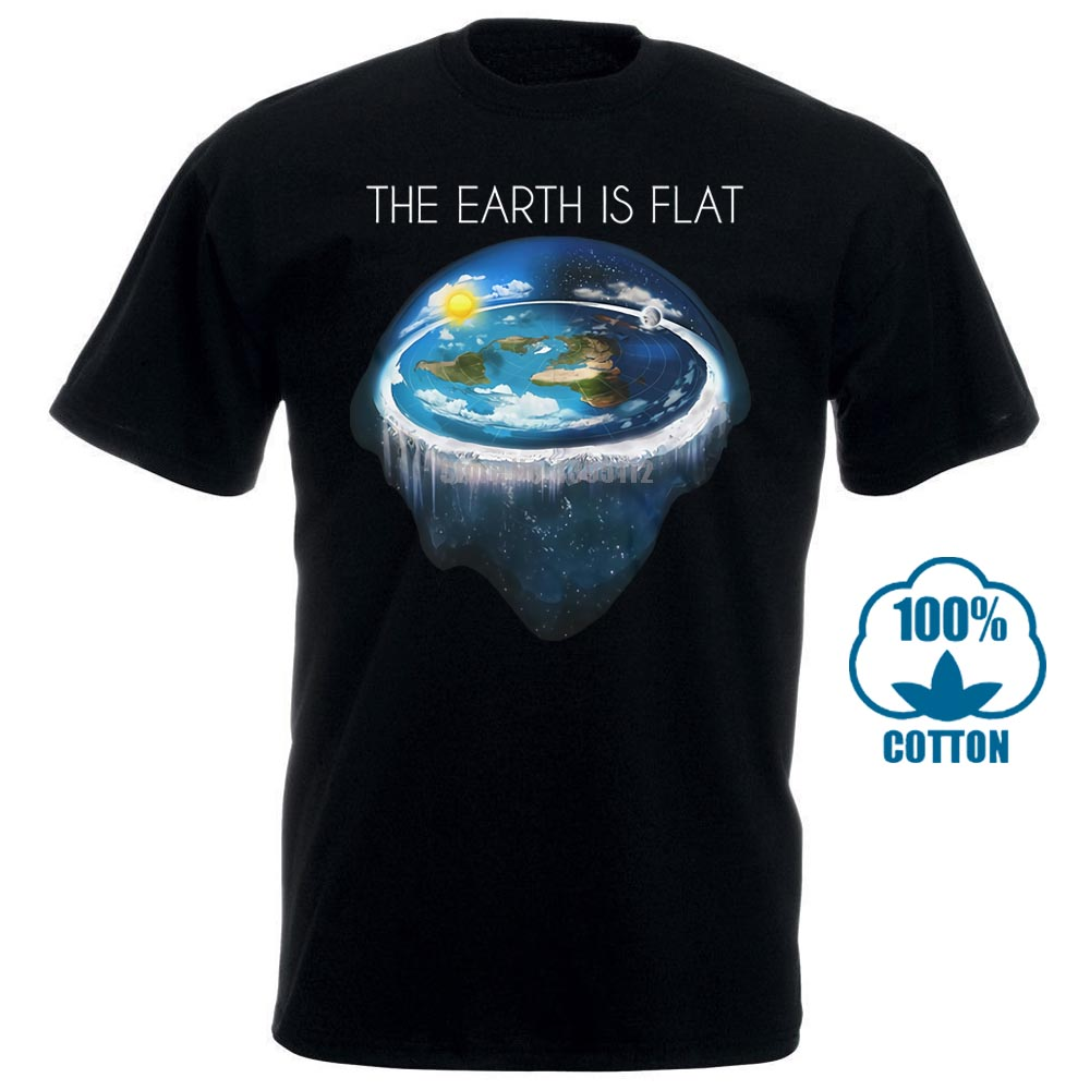 Hot Sale Fashion Flat Earth Tshirt Earth Is Flat Firmament Sheol Conspiracy New World Fe1 Print Casual T Shirt Men Brand