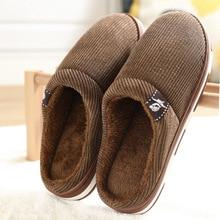Men's Winter Slippers Warm Velvet Fur Slippers Non Slip Home Slippers Comfy Waterproof Indoor Shoes for Male
