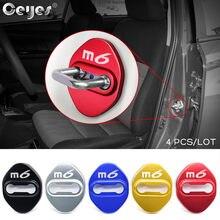 Estilo do carro auto fechadura da porta capa acessórios adesivo caso para mazda6 mazda 6 m6 seis 2014 - 2020 emblemas carro-estilo jdm 4 peças