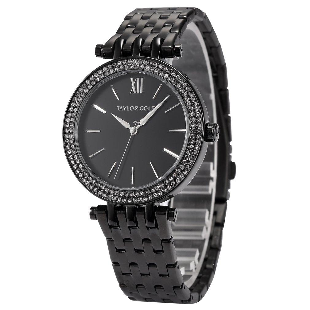 Diamond Ring Calendar Watch Steel Belt Quartz Watch Simple Watch Waterproof Casual Wrist Watch For Men And Women Men Watches