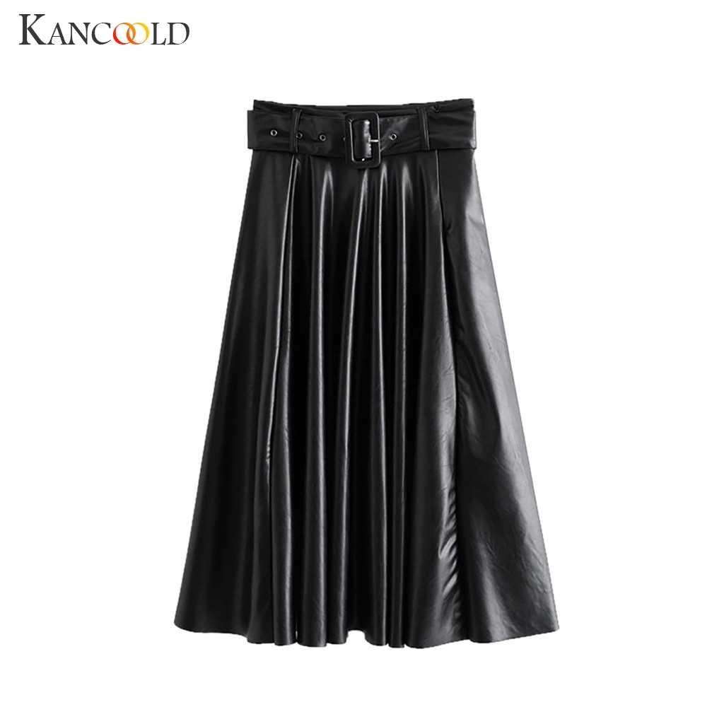 KANCOOLD jurk Lente Preppy Stijl Vrouwen Effen Kleur Hoge Taille Vouw Riem Casual Mini Rok mode nieuwe jurk vrouwen 2019DEC3