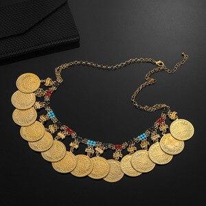 Image 5 - Colliers arabes pour femmes, grand Allah, grande pièce en métal, pour cadeau de mariage de luxe, bijou musulman et africain moyen orient, nouvelle collection