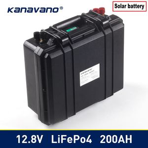 Kanavno 12.8V solar battery LIFEPO4100ah 200ah lithium battery pack with BMS board for golf cart and solar send charger(China)
