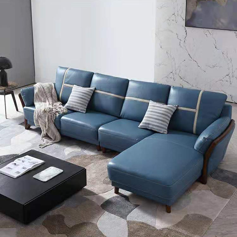 Customized high quality living room furniture living room sofa set leather sofa image