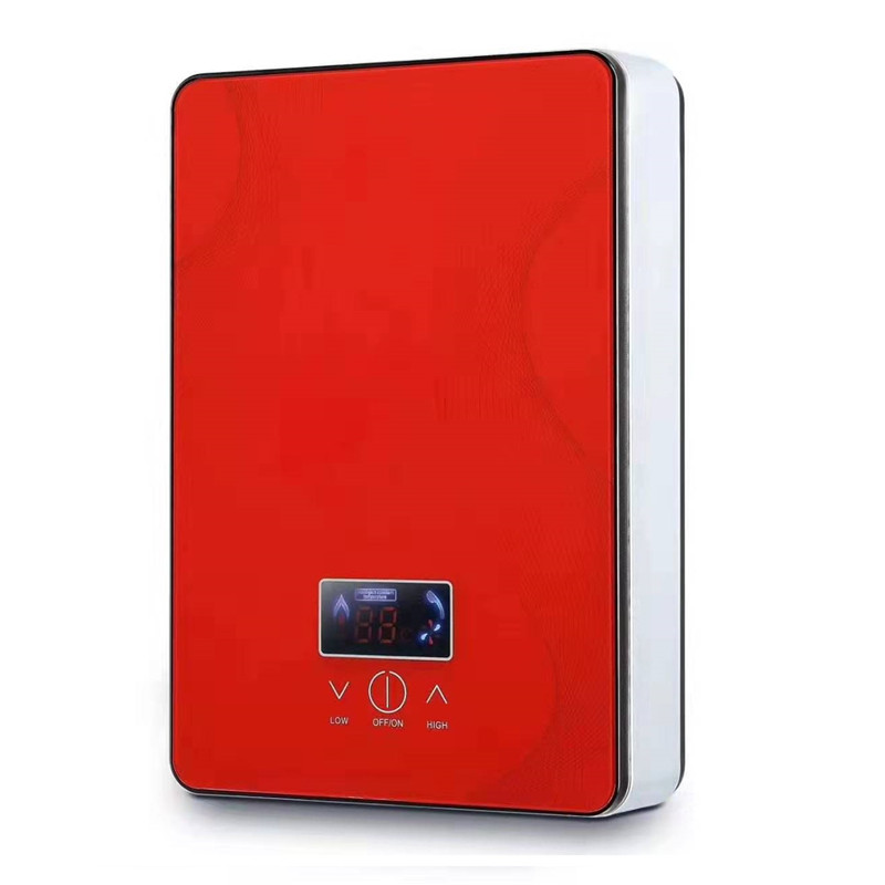 DSK-65H,Electric Tankless Water Heater 6500W For Hot Water Heating Kitchen Bathroom Shower Wall Or Floor Mounted Can Adjust Temp