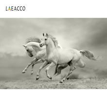 Laeacco Running Horse Photography Backgrounds Interior Decor Photo Backdrops Photophone Photozone Photocall For Photo Studio laeacco baby shower photophone starry sky moon clouds photography backgrounds birthday backdrops newborn photocall photo studio