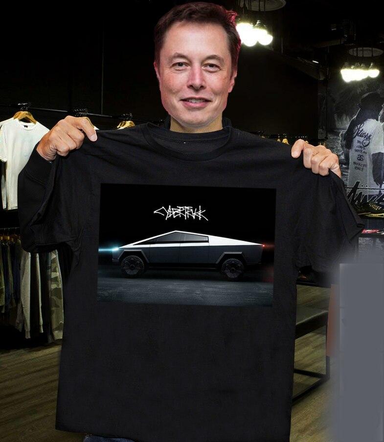 2019 Men T Shirt Fashion Elon Musk CyberTruck T-Shirt 2019 Tasla Cybertruck T-Shirt Elon Musk Shirt Gift