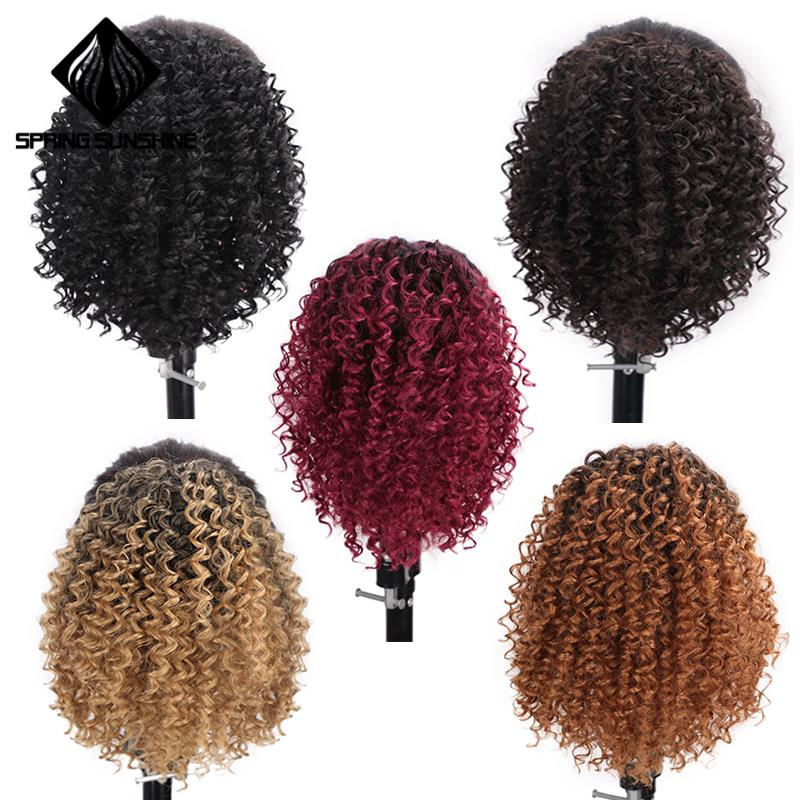 Closeout DealsHair-Extension Afro Puff-Ponytail Curl Clip-In Kinky Synthetic African Jerry Drawstringº
