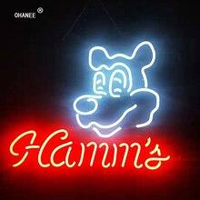 На заказ для Hamms неоновый знак светильник Настоящее неоновое стекло трубка ручной работы пивной бар магазин Логотип Паб Магазин клуб гараж ночной клуб