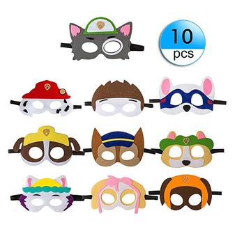 10pcs Paw Patrol Party Masks Kids Party Cosplay Felt with Rope Party Favors Mask Boys Girls Birthday Supplies children toy doll