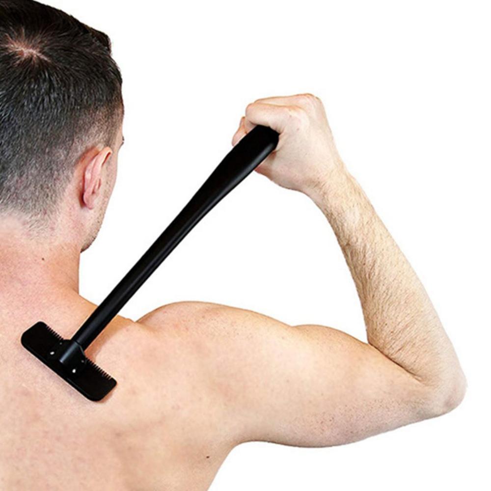 Long Handle Men Safety Manual Back Hair Shaver Big Blade Trimmer Self Groomer Hair Removal Tool Whole Body Leg Hair Razor Trimer