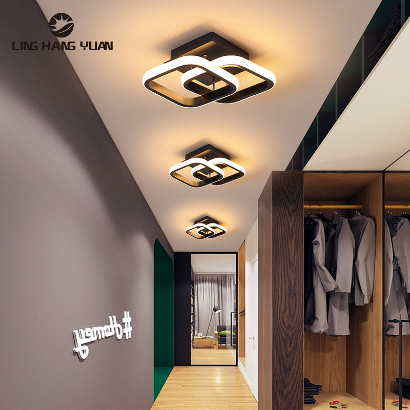 Modern Led Chandelier Black&White Chandelier Lighting Home Deco Small Star Lamp For Living Room Bedroom Aisle Lighting Fixtures