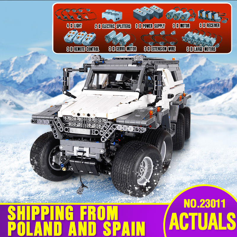 DHL 23011 Serie Técnica todoterreno vehículo modelo juguetes educativos bloques ladrillos compatibles con 5360 modelo de coche juguetes