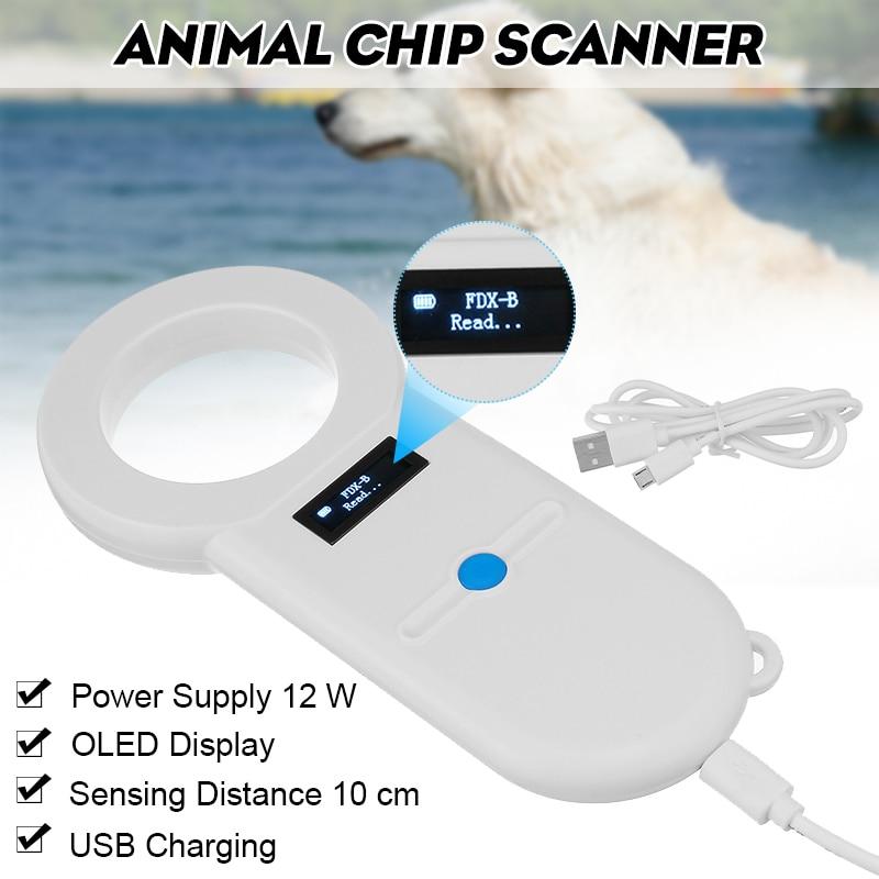 Sensitive Digital Pet Scanner ISO11784/5 Animal Pet ID Reader Chip Transponder USB Handheld Microchip Scanner For Dog Cat Horse