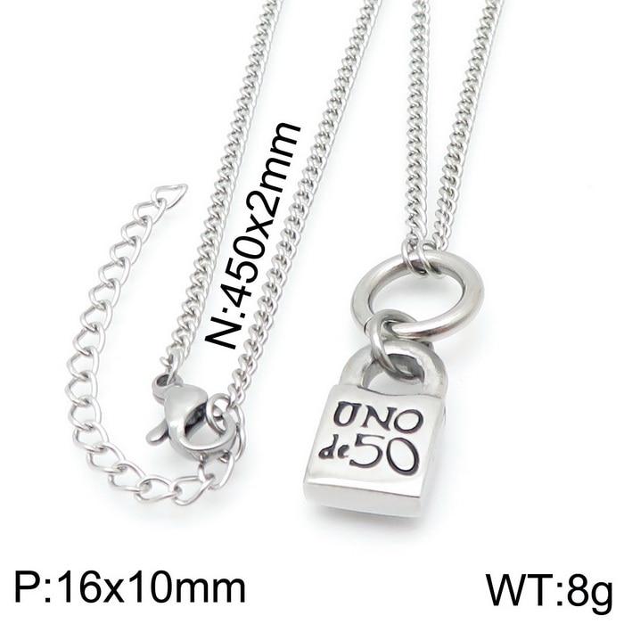 Модная новинка, ювелирное изделие, золотого и серебряного цвета Цвет ключ и замок кулон ожерелье Uno De 50 кулон ожерелье