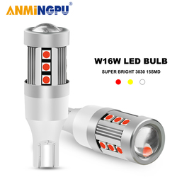 ANMINGPU 2x Signal Lamp T15 Led Bulbs 15SMD 3030Chips W16W Led Canbus 921 912 12V Auto Backup Light Car Reverse Light Tail Lamp