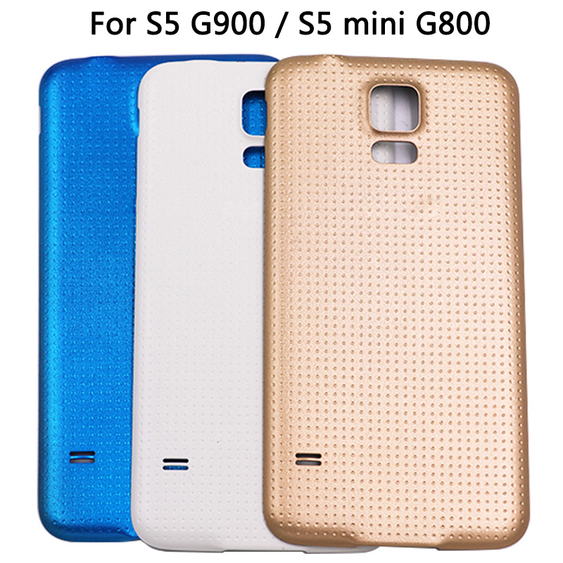 For Samsung Galaxy S5 I9600 G900F G900H Battery Cover For S5 Mini G800 G800F Back Cover Rear Plastic Housing Cover