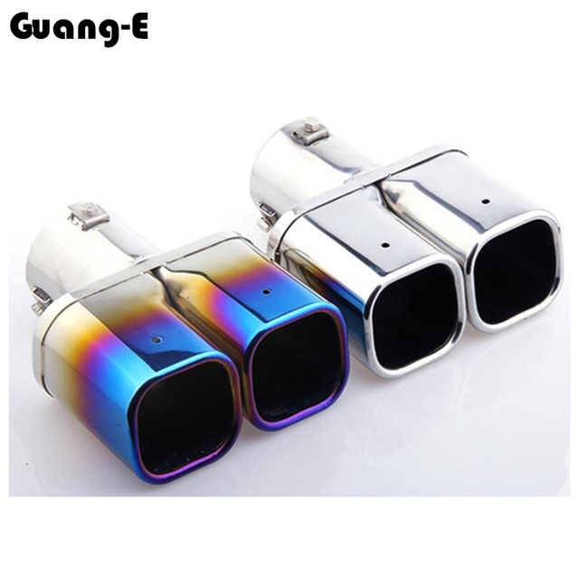 For Hyundai Tucson 2015 2016 2017 2018 Car Frame Muffler Exterior End Pipe Dedicate Stainless Steel Exhaust Tip Tail Outlet 1pcs 5
