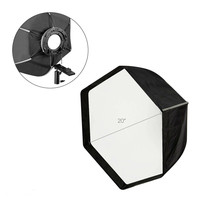 20 Hexagonal Photo Studio Softbox Reflector with White Diffuser Cover and Carry Case for Flash , Photography, Video