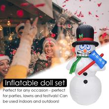 Christmas Decorations 1.8m Shaking Snowman Electric Inflatable Garden Ornaments Venue Layout Props