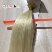 """HiArt 0,8 г, волосы для наращивания на плоских кончиках, человеческие волосы remy для наращивания, салон, кератиновые накладные волосы с двойным нарисованным плоским покрытием, 1"""" 20"""" 22"""""""