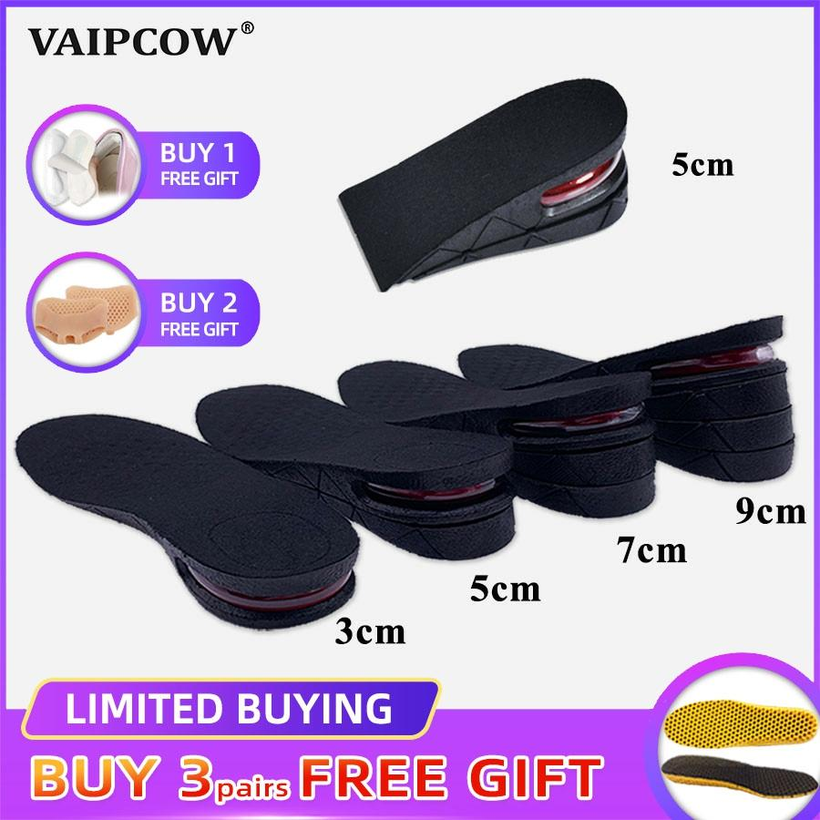3-9cm Invisible Height Increase Insole Cushion Height Lift Adjustable Cut Shoe Heel Insert Taller Support Absorbant Foot Pad