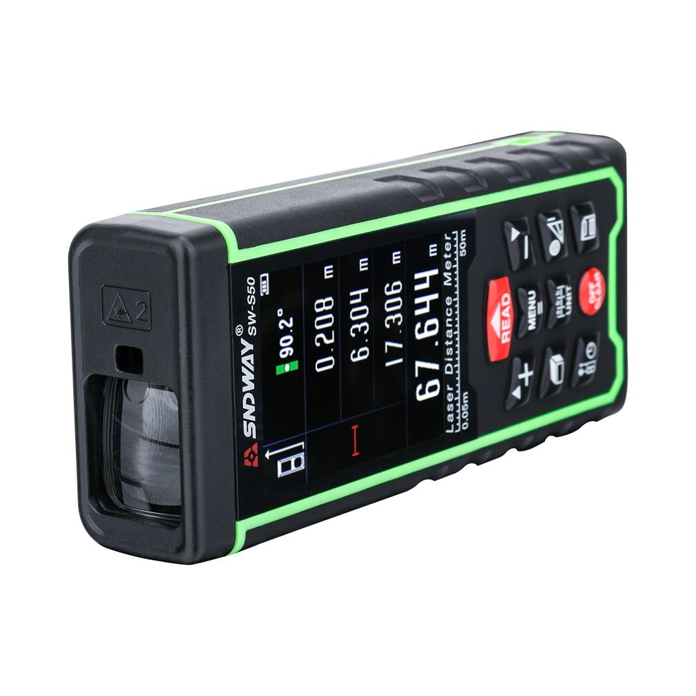 SNDWAY Kolorowy wyświetlacz 50 m 164ft Cyfrowy akumulator Dalmierz - Przyrządy pomiarowe - Zdjęcie 4