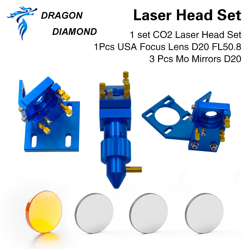 K40 Series: CO2 Laser Head Set For K40 2030 4060 CO2 Laser Engraving Cutting Machine Dia.12mm 18mm FL 50.8mm