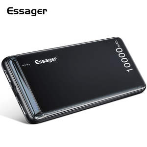 Essager 10000mAh Power Bank Slim USB 10000 mAh Powerbank Portable External Battery Charger Pack For Xiaomi Mi 3 iPhone PoverBank
