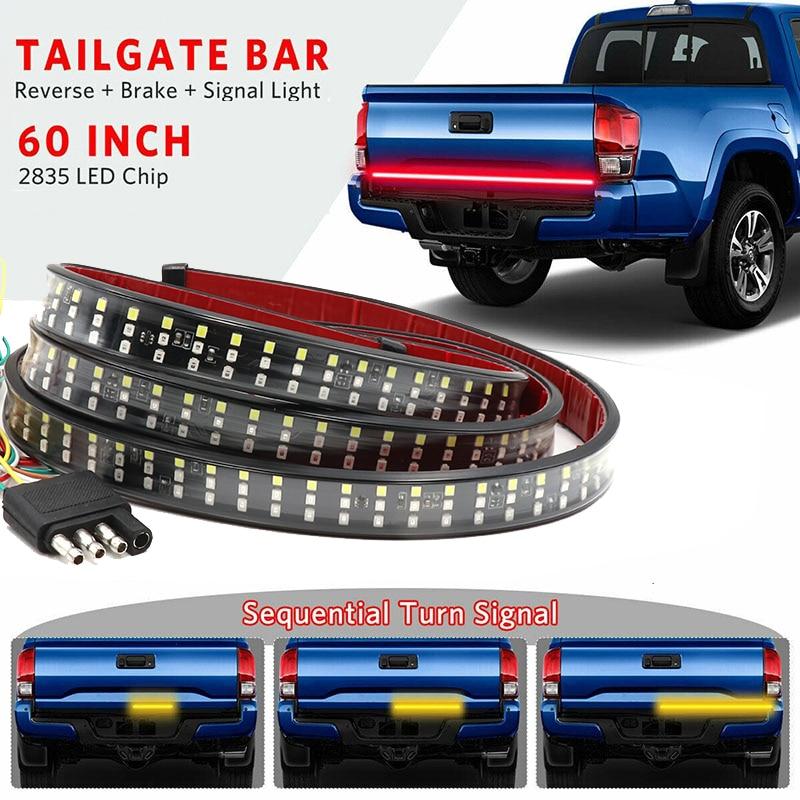 "Niscarda 60"" 432 Led Tailgate Truck Light Strip Bar Waterproof 5-Function Reverse Taillight Brake Stop Turn Signal Warning Light"