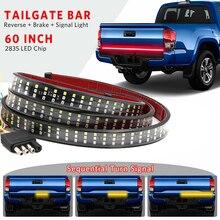 """Niscarda 60 """"432 led bagageira caminhão barra de luz de tira à prova dwaterproof água 5 função reversa luz de advertência do sinal de advertência do freio da parada traseira"""