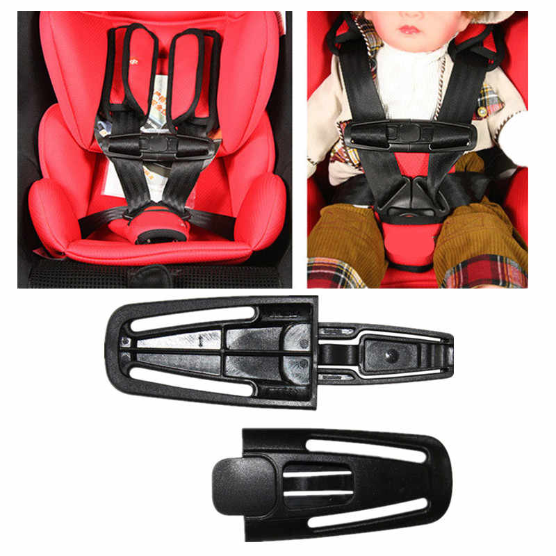 Auto-Styling 1Pc Baby Veiligheid Auto Seat Strap Seat Belt Cover Kind Peuter Borst Harnas Clip Veilig Gesp zwart Freeshipping
