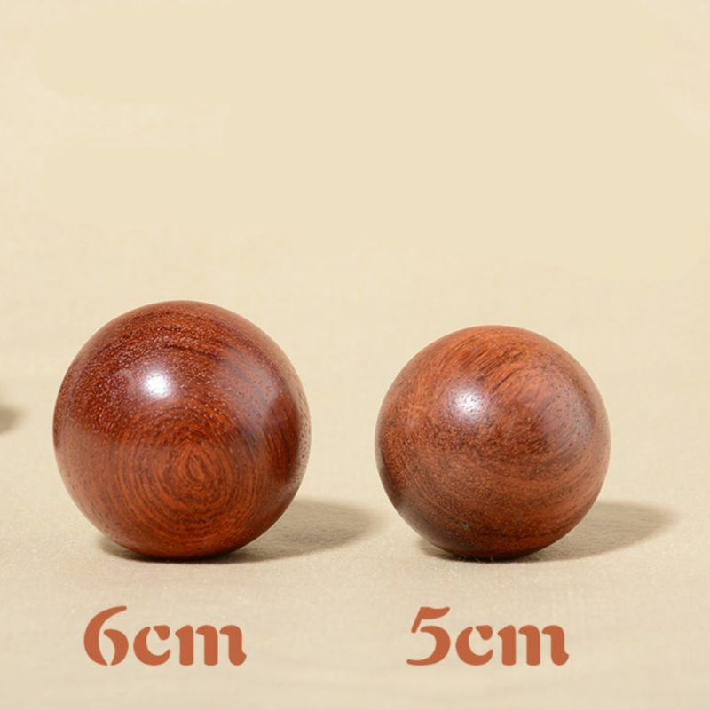 1 Pc Mini Wooden Fitness Ball Massage Handball Health Meditation Exercise Stress Relief Balls Hand Relaxation Accessory