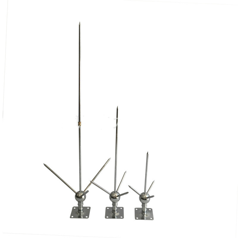 Brass Lightning Rod Trident Tower With Utility Pole Home Electrical Equipment Lightning Protection Equipment