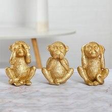 Смола не слушай смотри разговаривай миниатюрные фигурки золотой