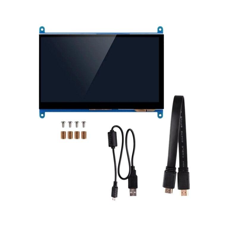 7 pulgadas de la vista LCD IPS prensa Sn 1024X600 HD HDMI Monitor para Raspberry Pi