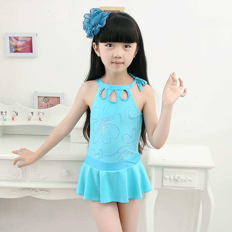 KID'S Swimwear Girls One-piece Hollow Out Swimwear Evening Gown Children Baby Princess Dress-GIRL'S Tour Bathing Suit