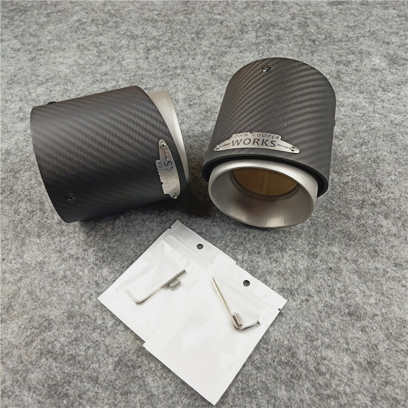 Image 5 - 1 PCS 3K Carbon Top Quality Exhaust Muffler Tips for MINI Cooper S  R55 R56 R57 R58 R59 R60 R61 F54 F56 F57 F60Exhaust