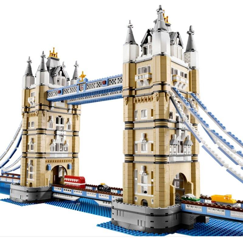 4295 pièces mondialement célèbre Architecture londres tour pont créateur Expert Compatible Legoinglys blocs de construction bricolage jouets 17004 10214